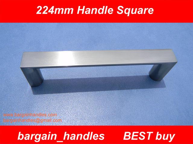 224mm Brushed Satin Nickel Square Handles