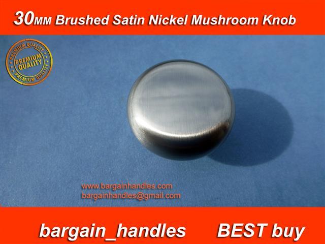 [30mm Mushroom Brushed Satin Nickel Knob ]