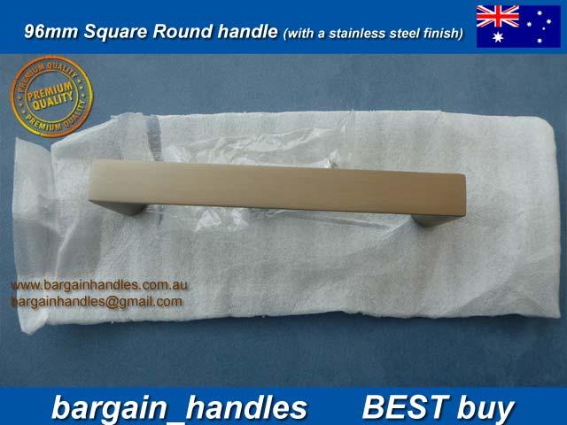 96mm Slimline Square Handle Matt Black Finish