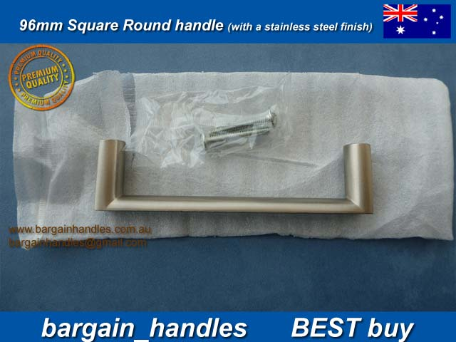 96mm Slimline Square Handle / D-Square Matt Black Finish