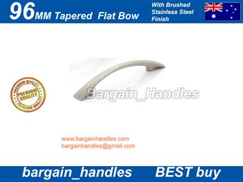 96mm Tapered Flat Bow Brushed Stainless Steel finish